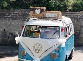 Classic VW Campervan for wedding hire in Bristol